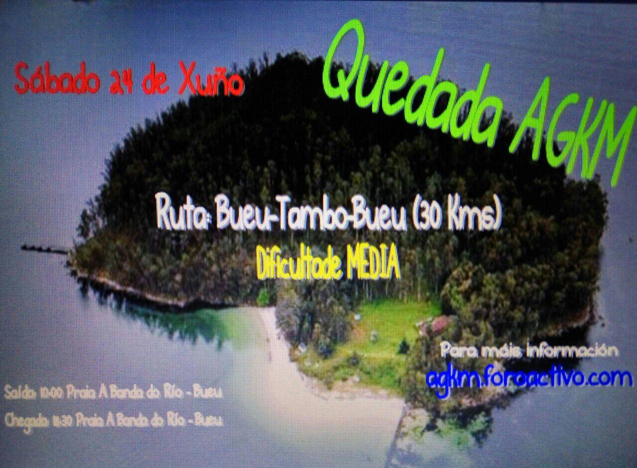 Travesia Bueu-Illa de Tambo-Bueu 24 de Xuño 2017. Cartel-quedada-junio-2017